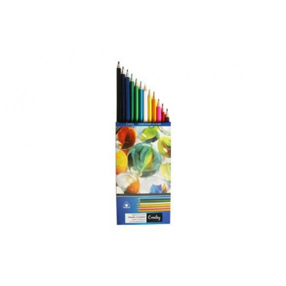 CROXLEY PENCIL CRAYONS, FULL LENGTH WALLET12