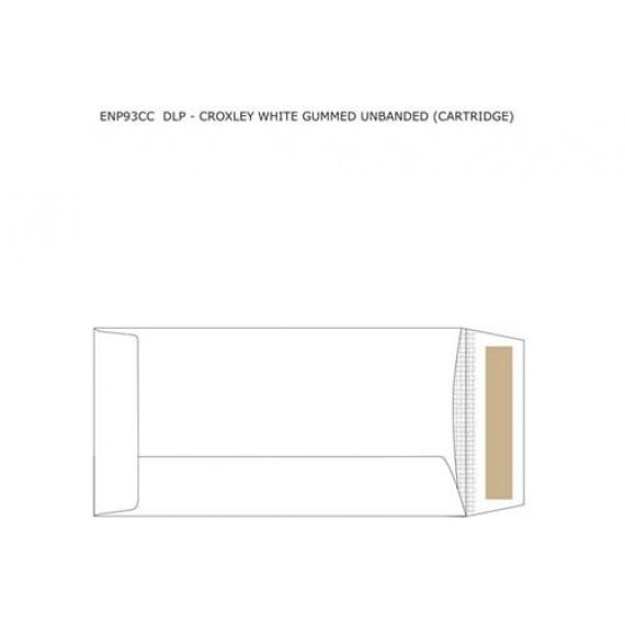 DLP CROXLEY WHITE GUMMED UNBANDED (CARTRIDGE) ,BOX-500