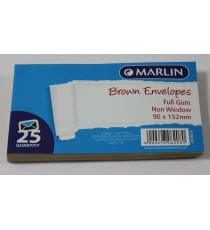 Marlin Envelopes Brown Gum 25'sMarlin Envelopes Brown Gum 25'sMarlin Envelopes Brown Gum 25's