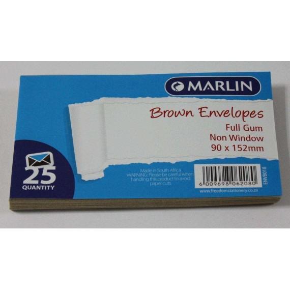 Marlin Envelopes Brown Gum 25'sMarlin Envelopes Brown Gum 25'sMarlin Envelopes Brown Gum 25's