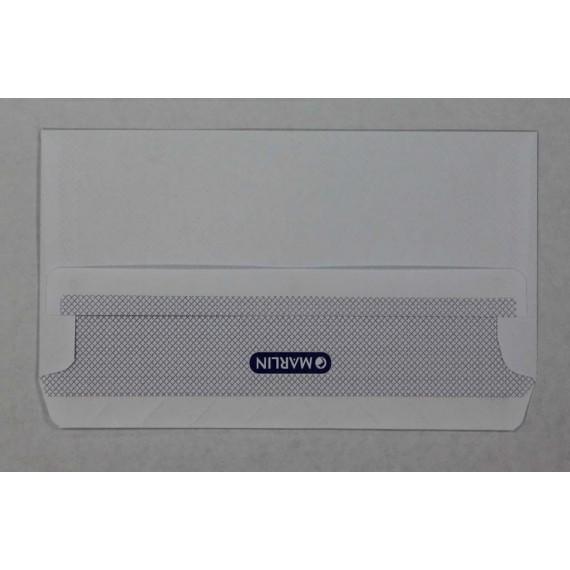 Marlin Envelopes DL White Opaque Gum 500's