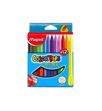 Maped Color'Peps Triangular Plastic Crayons 12's