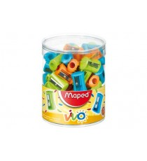 Maped Vivo Sharpener  1-Hole Plastic  (Tub of 75)