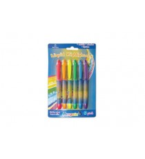 PENGUIN 6PK LIQUID PEN TYPE HIGHLIGHTERS CARDED