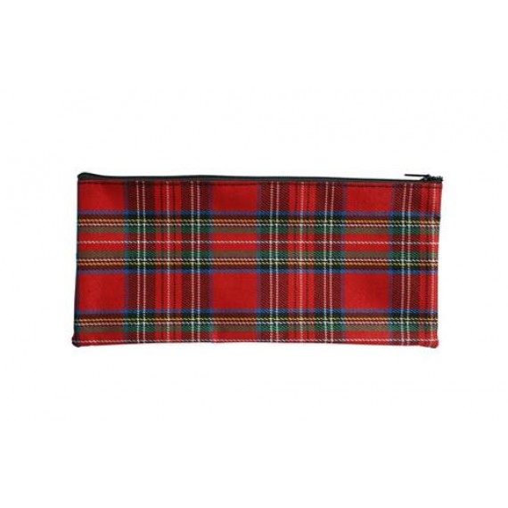 PENGUIN TARTAN PENCIL CASE 22CMX11CM