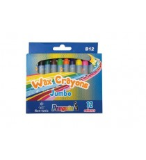 PENGUIN WAX CRAYONS B12 BOX12 JUMBO