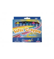 PENGUIN WAX CRAYONS C9 BOX9 SUPER JUMBO