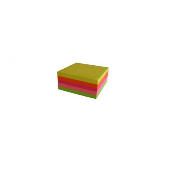 SELLONOTE 51MMX51MM NEON ASSORTED CUBE NOTES 250X1