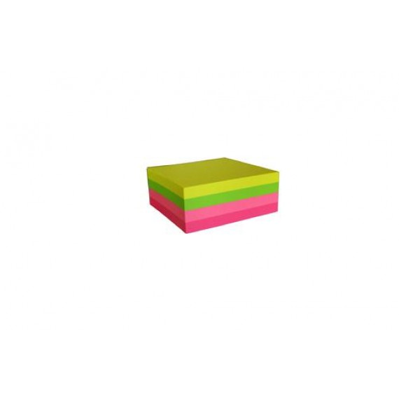 SELLONOTE 75MMX75MM NEON ASSORTED CUBE NOTES 320X1