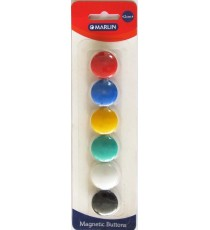 Marlin Magnetic Buttons 6's assorted colours