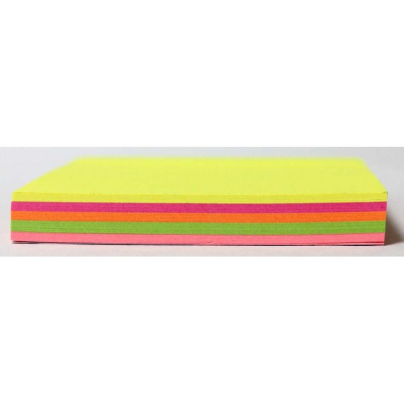 Marlin Sticky Note pad 76 x 76mm 100 sheets Neon colours