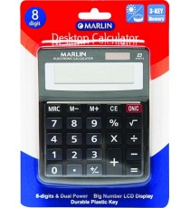 Marlin Desktop calculator 8 digit in blister card