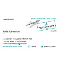 Master Maths Business Cards (Pack of 200)