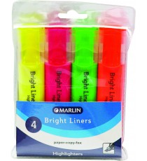 Marlin Bright liners highlighter 4's asst. colours