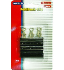 Marlin Fold Back Clips 19mm 12's