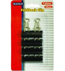 Marlin fold back clips 25mm 8's