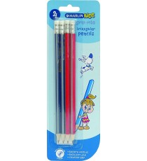 Marlin Kids Grip Rite triangular pencil with eraser 4's HB