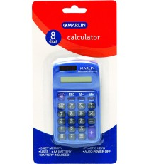 Marlin Dummy solar calculator 8 digit in blister pack