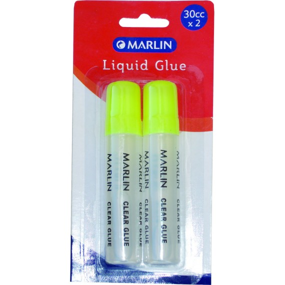 Marlin 2 clear liquid glue pens 30cc/ml