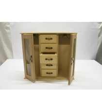 Jewellery /Glass double door – 5 Drawers