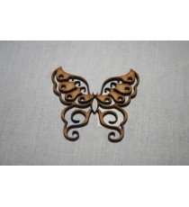 Butterfly with curls 60x50x3mm